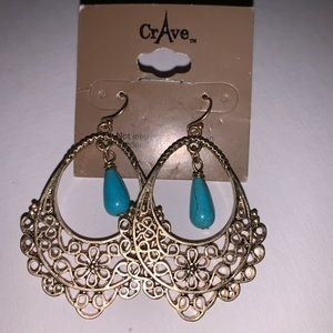 Jewelry - Earrings Faux Turquoise Cowgirl